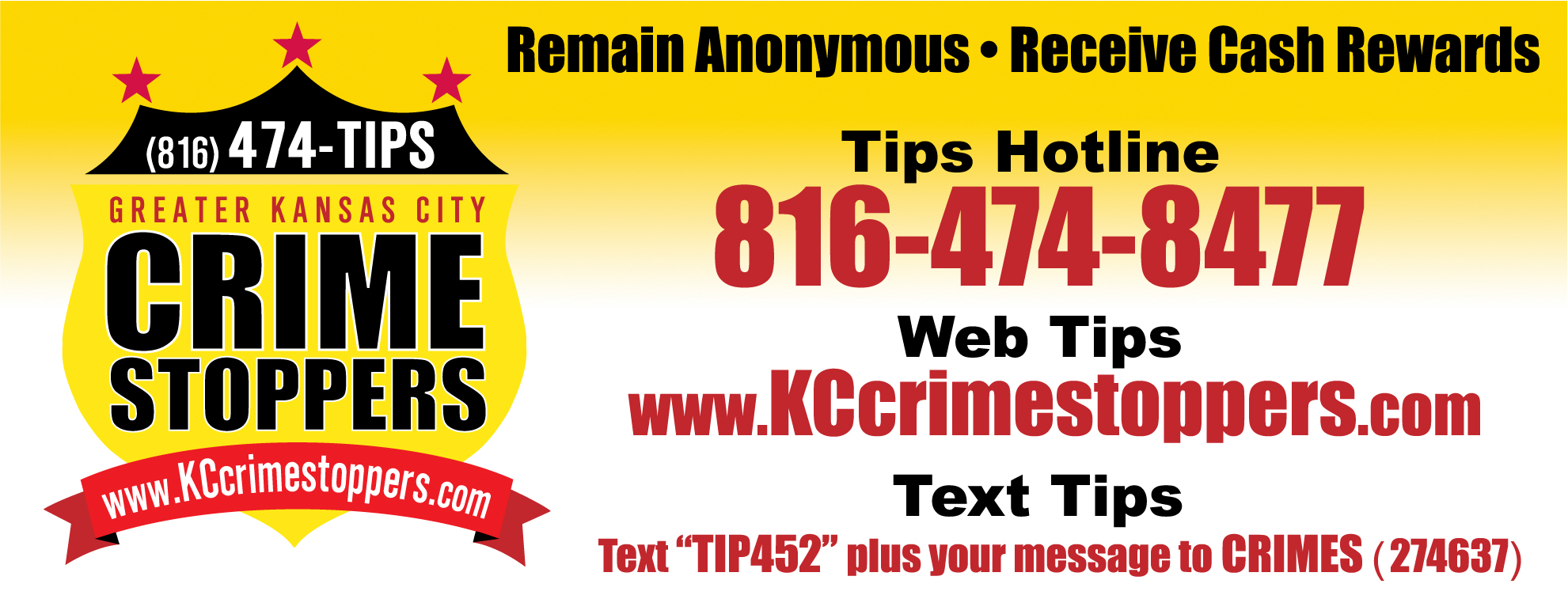 Crime Stoppers Banner Art